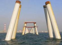 海上打桩用防腐螺旋钢管施工